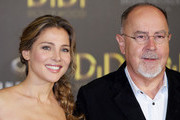 """Spanish actress Elsa Pataky and Spanish director Bigas Luna attend """"Didi Hollywood"""" press conference at Intercontinental Hotel on October 14, 2010 in Madrid, Spain."""
