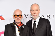 Michael Stipe and Douglas Coupland attend the Elton John AIDS Foundation's 17th Annual An Enduring Vision Benefit at Cipriani 42nd Street on November 5, 2018 in New York City.