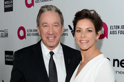 Actors Tim Allen and Jane Hajduk attends the 22nd Annual Elton John AIDS Foundation's Oscar Viewing Party on March 2, 2014 in Los Angeles, California.