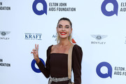 "Alina Baikova attends the first ""Midsummer Party"" hosted by Elton John and David Furnish to raise funds for the Elton John Aids Foundation at the Villa Dorane on July 24, 2019 in Antibes, France."