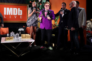Elton John David Furnish IMDb LIVE Presented By M&M'S At The Elton John AIDS Foundation Academy Awards Viewing Party