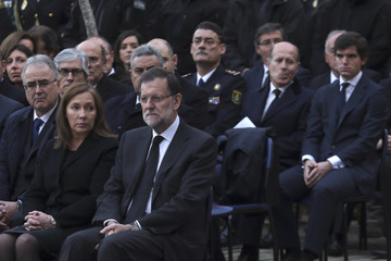 Elvira Fernandez Spanish Royals Attend State Funeral Held For Two Policemen Killed in Kabul