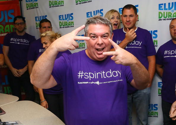 Z100 Morning Show' crew goes purple for GLAAD #SpiritDay at the Z100 ...