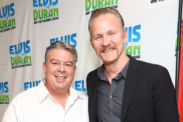 Elvis Duran Morgan Spurlock Visits a Radio Morning Show