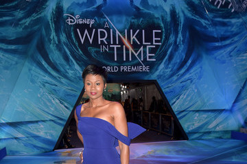 Emayatzy Corinealdi  Premiere Of Disney's 'A Wrinkle In Time' - Red Carpet