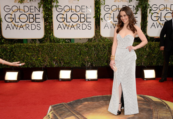 Emilia Clarke - 71st Annual Golden Globe Awards - Arrivals