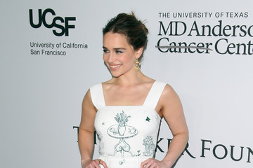 Emilia Clarke Sean Parker and The Parker Foundation Launch The Parker Institute for Cancer Immunotherapy Gala - Arrivals