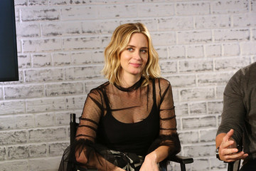 Emily Blunt Emily Blunt Takes Part in AOL's BUILD Series LONDON
