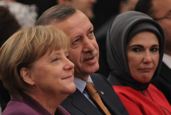 Emine+Erdogan+Merkel+Erdogan+Mark+50+Yea