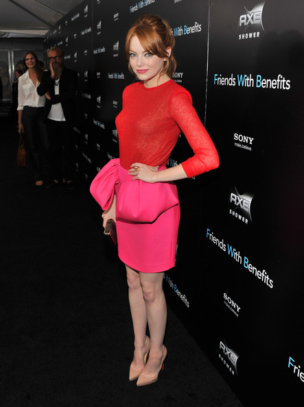 """Emma Stone Emma Stone attends the """"Friends with Benefits"""" premiere at Ziegfeld Theater on July 18, 2011 in New York City."""