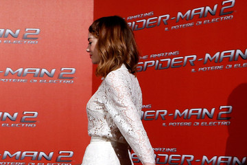Emma Stone 'The Amazing Spider-Man 2' Stars in Rome