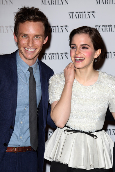 Emma Watson (UK TABLOID NEWSPAPERS OUT) Eddie Redmayne and Emma Watson attend the UK premiere of My Week with Marilyn at The Cineworld Haymarket on November 20, 2011 in London, United Kingdom.
