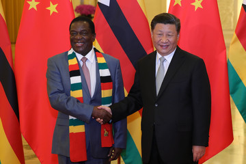 Emmerson Mnangagwa President Xi Jinping Meets Foreign Leaders