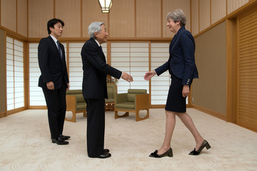 Emperor Akihito Theresa May's First Official Visit To Japan As Prime Minister- Day Three
