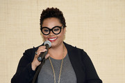 Singer-songwriter Jill Scott speaks during the Empowering Women Summit at United Nations on May 9, 2016 in New York City.
