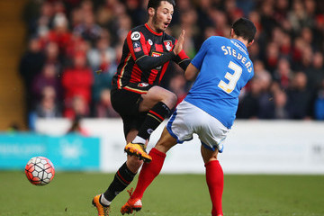 Enda Stevens Portsmouth v AFC Bournemouth - The Emirates FA Cup Fourth Round