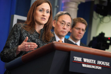 Heather Zichal Energy Secretary Chu Holds Press Briefing