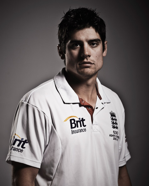 alastair cook ashes. Alastair Cook of England poses