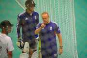 Kevin Pietersen and Andy Flower Photos Photo