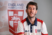 Stefan Ratchford of England poses for a portrait during a England Rugby League media day at the Village Hotel on October 10, 2017 in Bury, England.