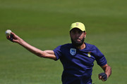 Imran Tahir of South Africa takes part in a South Africa nets session ahead of the Twenty20 International between England and South Africa at Ageas Bowl on June 20, 2017 in Southampton, England.