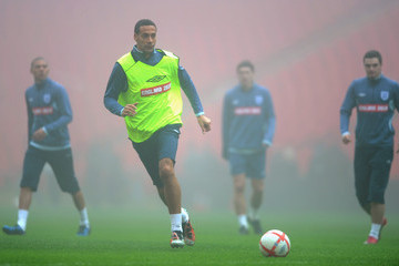 Rio Ferdinand England Training And Press Conference