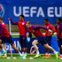 Wayne Rooney Photos - Wayne Rooney of England warms up during a training session at Stade du Bourgognes ahead of the UEFA Euro 2016 match against Wales on June 15, 2016 in Chantilly, France. - England Training Session