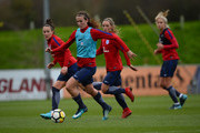 Jill Scott of England Women in action during a training session at St Georges Park on November 21, 2017 in Burton-upon-Trent, England.