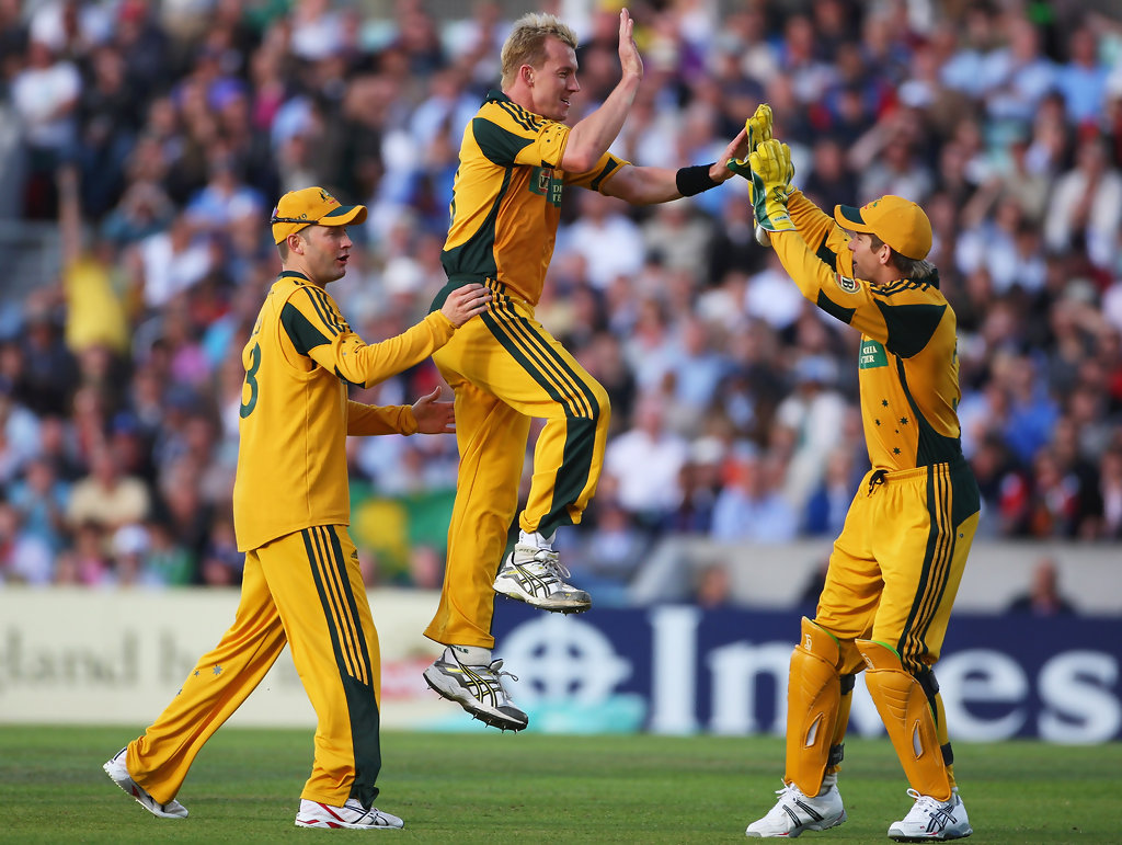 Michael Clarke, Brett Lee, Tim Paine - Brett Lee and Tim Paine Photos -  England v Australia - 1st NatWest One Day International - Zimbio