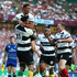 Malakai Fekitoa Photos - Sitaleki Timani of the Barbarians celebrates scoring a try with team mates Malakai Fekitoa and Chris Ashton of the Barbarians during the Quilter Cup match between England and Barbarians at Twickenham Stadium on May 27, 2018 in London, England. - England vs. Barbarians - Quilter Cup