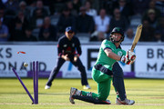 William Porterfield of Ireland looks on after being bowled out by Mark Wood of England during the Royal London ODI between England and Ireland at Lord's Cricket Ground on May 7, 2017 in London, England.