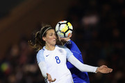 Jill Scott of England in action during the FIFA Women's World Cup Qualifier between England and Kazakhstan at Weston Homes Community Stadium on November 28, 2017 in Colchester, England.