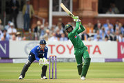 Shoaib Malik of Pakistan hits out for six runs during the 2nd One Day International match between England and Pakistan on August 27, 2016 in London, England.