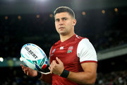 Ben Youngs of England looks on prior to  the Rugby World Cup 2019 Final between England and South Africa at International Stadium Yokohama on November 02, 2019 in Yokohama, Kanagawa, Japan.
