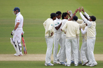 Chanaka Welegedara England v Sri Lanka: 2nd npower Test - Day Four