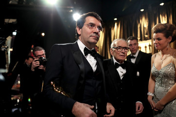 Ennio Morricone Backstage at the 2016 Academy Awards