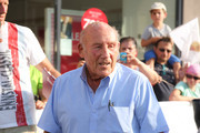 Sir Stirling Moss at the finish area at the Ennstal Classic 2015 on July 17, 2015 in Schladming, Austria.