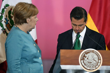Enrique Pena Nieto German Chancellor Angela Merkel Visits Mexico