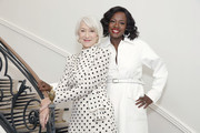 (L-R) Helen Mirren and Viola Davis join L'Oréal Paris to celebrate the launch of Age Perfect Cosmetics on March 03, 2020 in Beverly Hills, California.