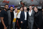 "Demore Barnes, Ricky Whittle, Bruce Langley, David Tennant, Michael Sheen, Jon Hamm and Neil Gaiman attend Entertainment Weekly + Amazon Prime Video's ""Saints & Sinners"" Party At SXSW on March 9, 2019 in Austin, Texas."