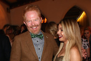 Actors Jesse Tyler Ferguson (L) and Sarah Hyland attend Entertainment Weekly's celebration honoring the 2015 SAG awards nominees at Chateau Marmont  on January 24, 2015 in Los Angeles, California.
