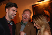 (L-R) Actors Justin Mikita, Jesse Tyler Ferguson and Sarah Hyland attend Entertainment Weekly's celebration honoring the 2015 SAG awards nominees at Chateau Marmont  on January 24, 2015 in Los Angeles, California.