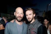 Actors Corey Stoll (L) and Dan Stevens attend the Entertainment Weekly and FX After Dark event at the EW Studio during Comic-Con at Hard Rock Hotel San Diego on July 20, 2017 in San Diego, California.