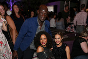 (L-R) Peter Mensah, Parisa Fitz-Henley and Arielle Kebbel at Entertainment Weekly's annual Comic-Con party in celebration of Comic-Con 2017  at Float at Hard Rock Hotel San Diego on July 22, 2017 in San Diego, California.