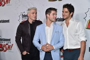 (L-R) Colton Haynes, Cody Christian and Tyler Posey at Entertainment Weekly's annual Comic-Con party in celebration of Comic-Con 2017  at Float at Hard Rock Hotel San Diego on July 22, 2017 in San Diego, California.