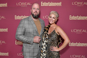 (L-R) Chris Sullivan and Rachel Reichard attend the 2019 Pre-Emmy Party hosted by Entertainment Weekly and L'Oreal Paris at Sunset Tower Hotel in Los Angeles on Friday, September 20, 2019.