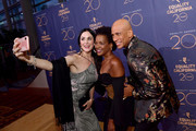 (L-R) Danielle Bisutti, Kelsey Scott and Ronnie Butler Jr. attend Equality California's Special 20th Anniversary Los Angeles Equality Awards at the JW Marriott Los Angeles at L.A. LIVE on September 28, 2019 in Los Angeles, California.