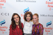 """Honoree, Founder, A Breeze of Hope Foundation Brisa De Angulo and Global Executive Director, Equality Now Yasmeen Hassan, and Honoree, President and CEO, Gucci America Susan Chokachi  attend as Equality Now celebrates 25th Anniversary at """"Make Equality Reality"""" Gala at Gotham Hall on October 30, 2017 in New York City."""