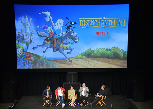 Adult Animation Q&A And Reception [technology,adaptation,electronic device,display device,games,nat faxon,eric andre,matt groening,andy richter,abbi jacobson,adult animation q a,q a,california,hollywood,reception]