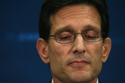 House Majority Leader Eric Cantor (R-VA) talks to the media about his defeat last night, during a news conference at the   U.S. Capitol, June 11, 2014 in Washington, DC. Yesterday House Majority Leader Eric Cantor (R-VA) lost his Virginia primary to Tea Party challenger Dave Brat.